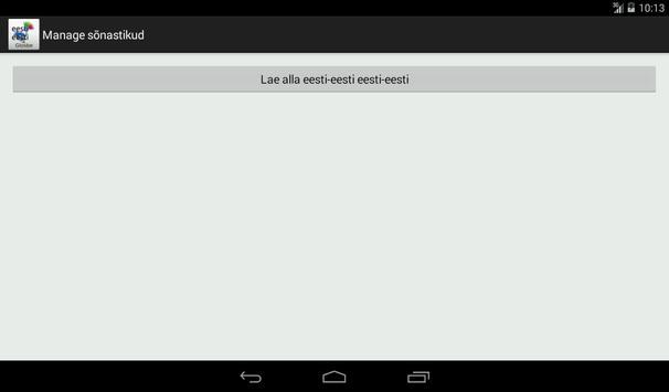 Estonian-Estonian Dictionary apk screenshot