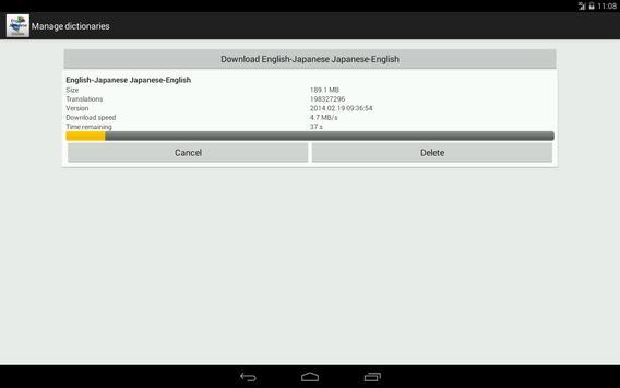 Estonian-Italian dictionary apk screenshot