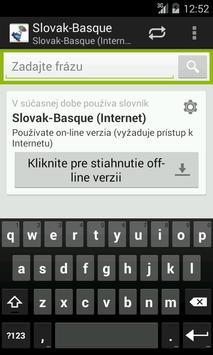 Basque-Slovak Dictionary poster