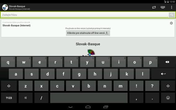 Basque-Slovak Dictionary apk screenshot