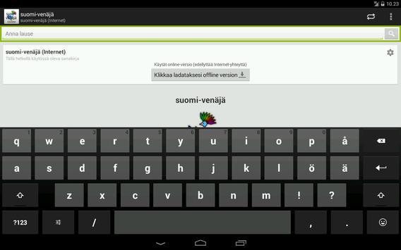 Venäjä-Suomi Sanakirja apk screenshot