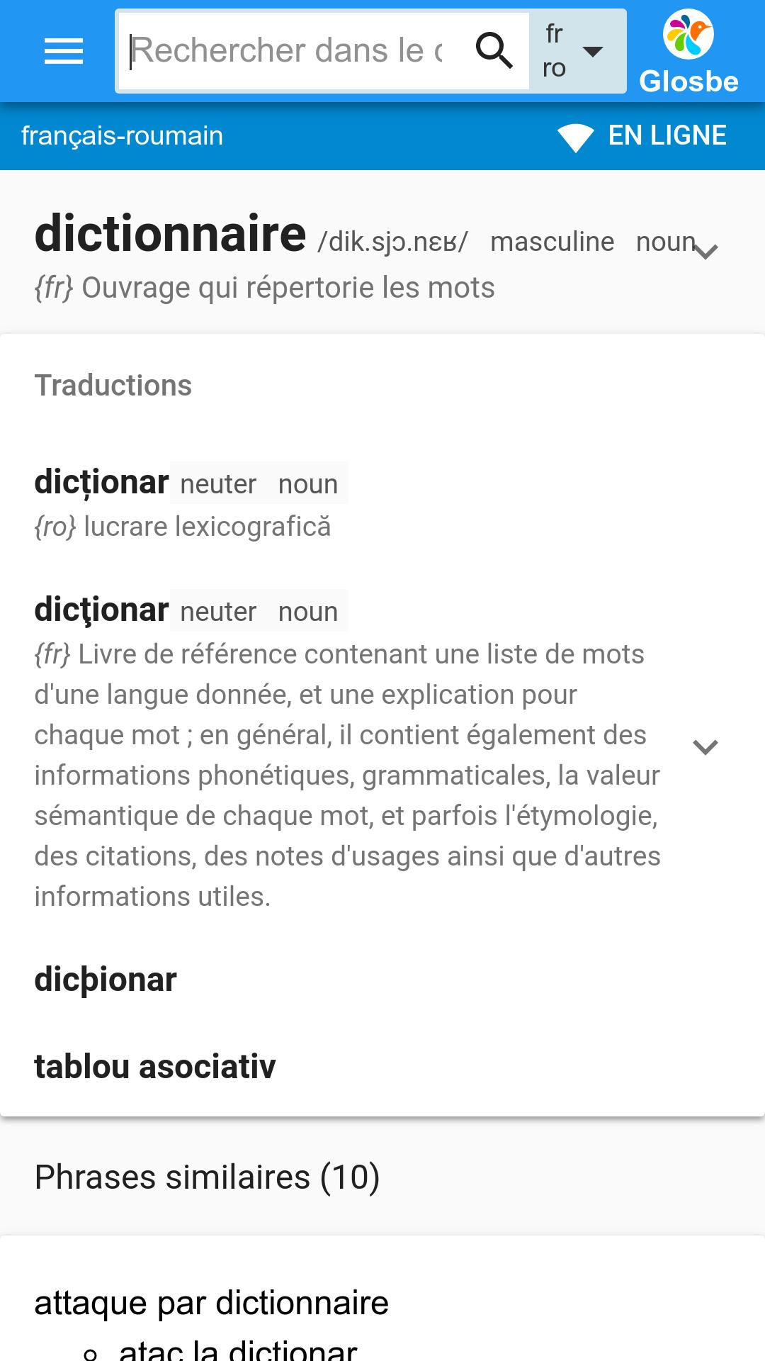 Roumain Francais Dictionnaire For Android Apk Download
