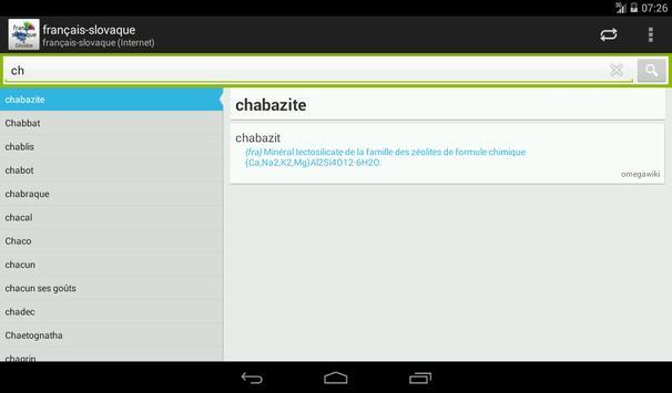 Slovaque-Français Dictionnaire apk screenshot