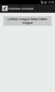 Hebrew-Hungarian Dictionary apk screenshot