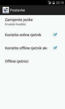 Švedski-Hrvatski Rječnik apk screenshot
