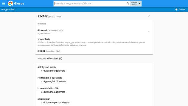 Olasz-Magyar szótár apk screenshot