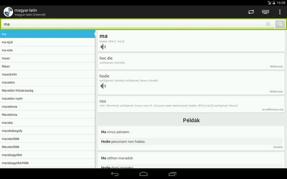 Hungarian-Latin Dictionary apk screenshot