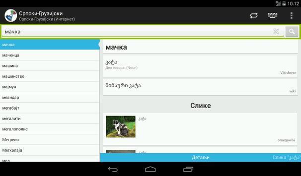 Georgian-Serbian Dictionary screenshot 13