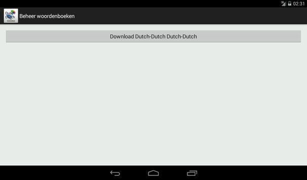 Dutch-Dutch Dictionary apk screenshot