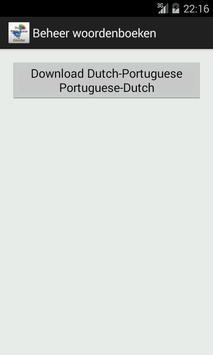Dutch-Portuguese Dictionary apk screenshot