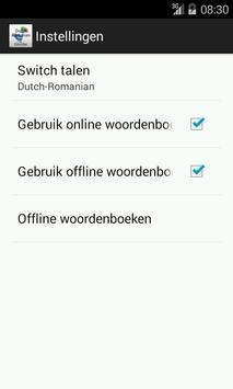 Dutch-Romanian Dictionary screenshot 4