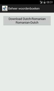 Dutch-Romanian Dictionary screenshot 5