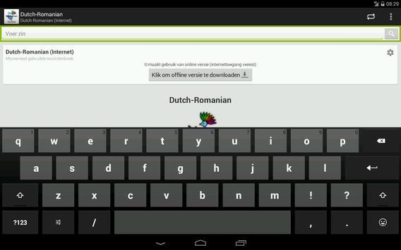 Dutch-Romanian Dictionary apk screenshot
