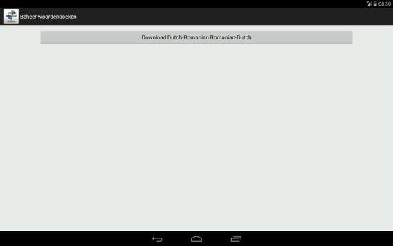 Dutch-Romanian Dictionary screenshot 10