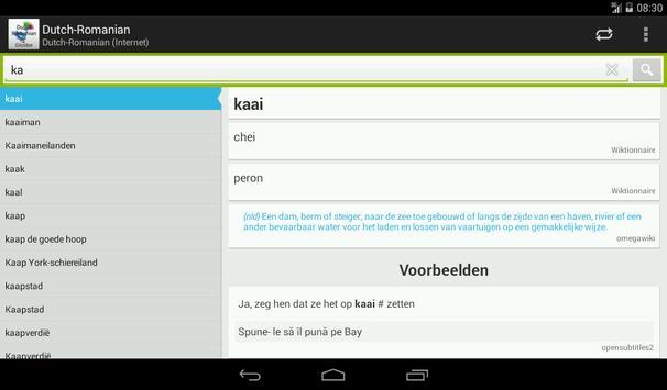 Dutch-Romanian Dictionary screenshot 12