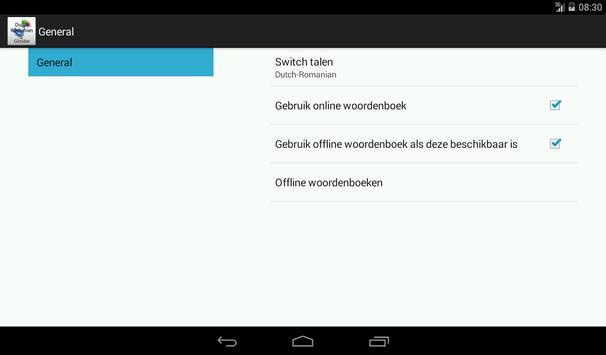 Dutch-Romanian Dictionary screenshot 14
