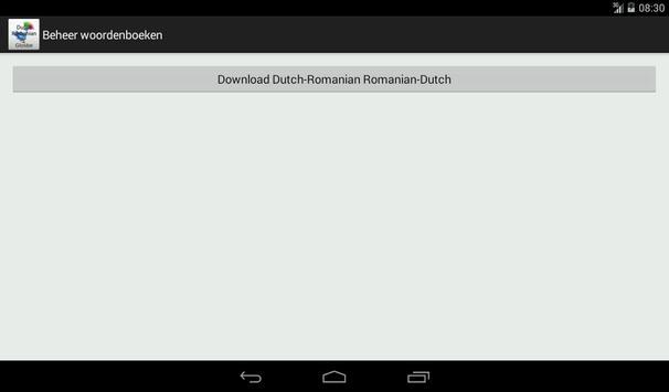 Dutch-Romanian Dictionary screenshot 15