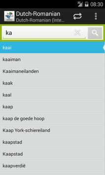 Dutch-Romanian Dictionary screenshot 1