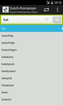 Dutch-Romanian Dictionary screenshot 2