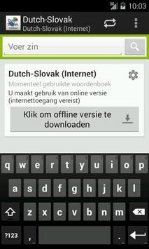Dutch-Slovak Dictionary poster