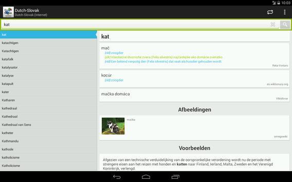 Dutch-Slovak Dictionary apk screenshot
