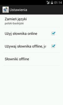 Polish-Basque Dictionary apk screenshot
