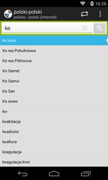 polsko - polski słownik screenshot 1