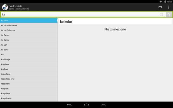 polsko - polski słownik screenshot 8