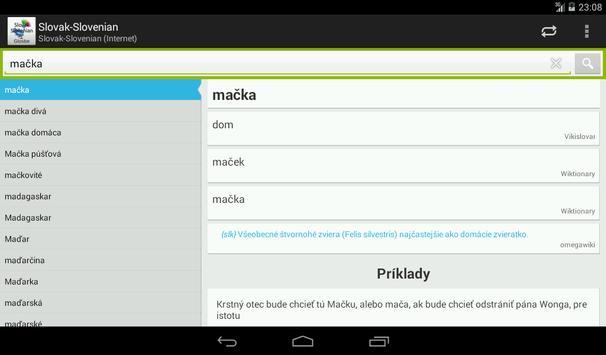Slovak-Slovenian Dictionary apk screenshot