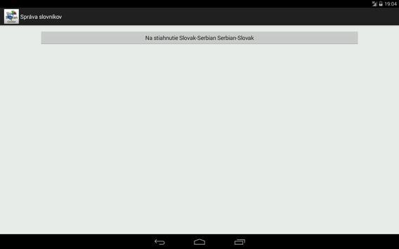 Slovak-Serbian Dictionary apk screenshot