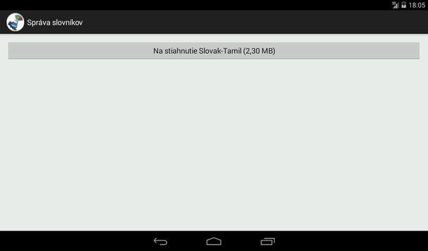 Slovak-Tamil Dictionary apk screenshot