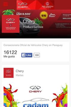 Chery Paraguay apk screenshot