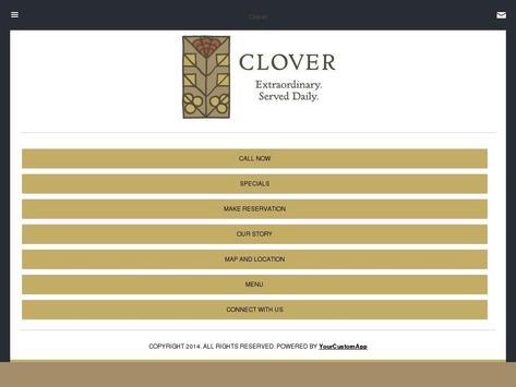 Clover Restaurant poster
