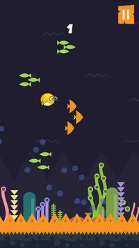 Flying bird under water apk screenshot