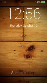 Wood Lock Screen poster