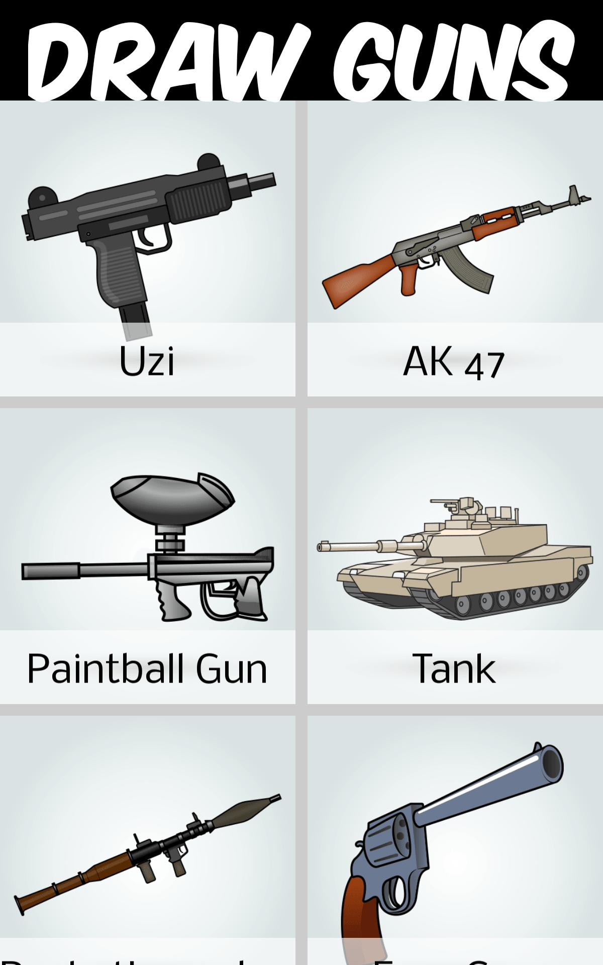 How To Draw Guns For Android Apk Download