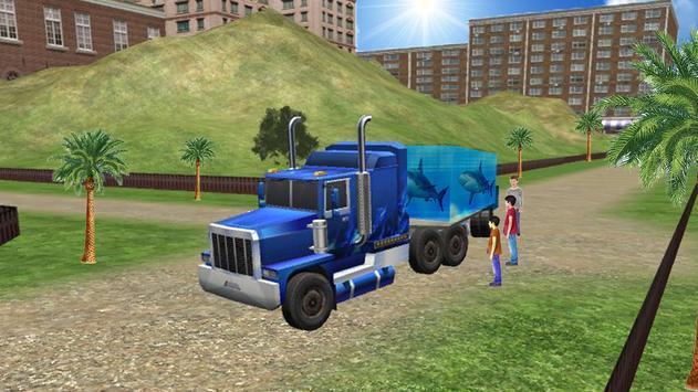 Sea Animal Cargo Truck Free apk screenshot