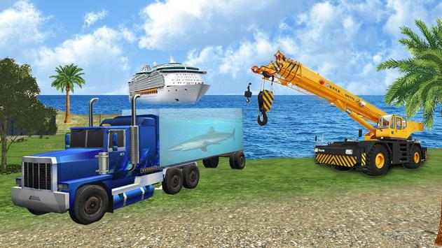 Sea Animal Cargo Truck Free poster