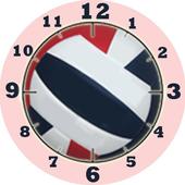 Volleyball Clock Widget-RWB icon