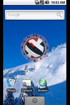Volleyball Clock Widget-RWB screenshot 1