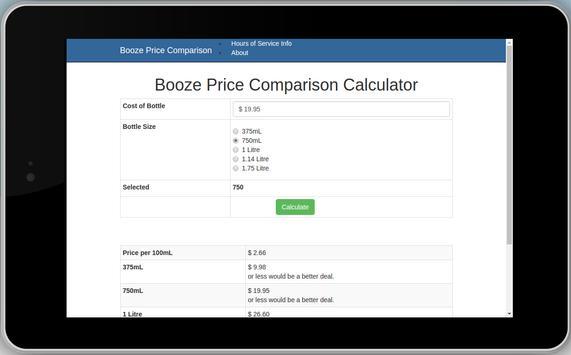 Booze Price Calculator screenshot 1