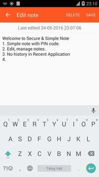 Private Note apk screenshot