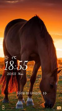 Lively Horse Locker Theme apk screenshot