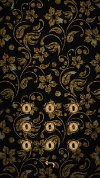 Golden Flower luxury Locker Theme screenshot 1