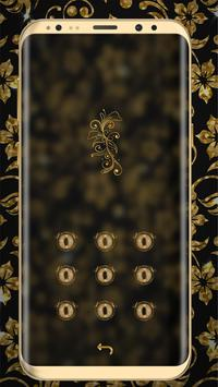 Golden Flower luxury Locker Theme apk screenshot
