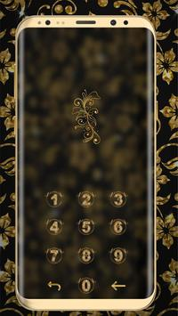 Golden Flower luxury Locker Theme screenshot 3