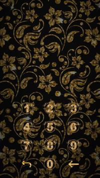 Golden Flower luxury Locker Theme screenshot 5