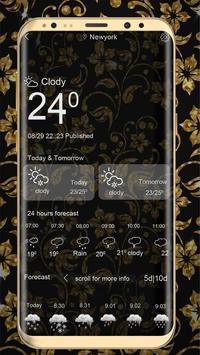 Golden Flower luxury Locker Theme screenshot 6