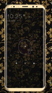 Golden Flower luxury Locker Theme screenshot 7