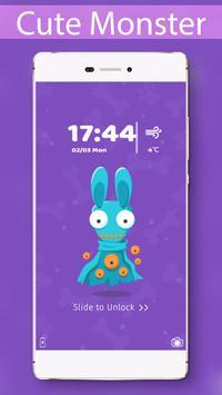 Cute Monster Locker Theme poster
